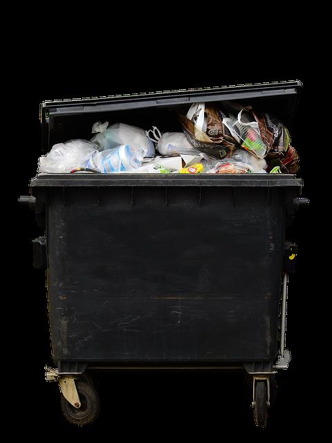duży kosz na odpady